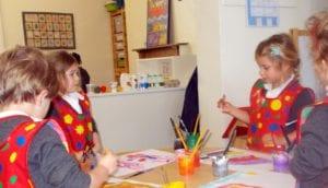 infant school class painting